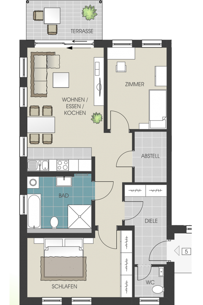 grundrisse und kaufpreise der wohnungen und garagen. Black Bedroom Furniture Sets. Home Design Ideas